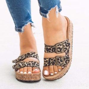 LIBBY Leopard Print Sandals